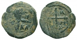 CRUSADERS.Tancred, 1112-1119 AD.AE Follis.Antioch mint  Condition: Very Fine  Weight: 3.40 gr Diameter: 23 mm