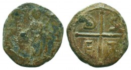 CRUSADERS.Tancred, 1112-1119 AD.AE Follis.Antioch mint  Condition: Very Fine  Weight: 4.10 gr Diameter: 20 mm