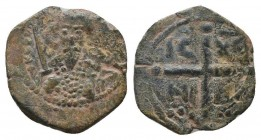 CRUSADERS.Tancred, 1112-1119 AD.AE Follis.Antioch mint  Condition: Very Fine  Weight: 2.80 gr Diameter: 19 mm