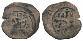 CRUSADERS.Tancred, 1112-1119 AD.AE Follis.Antioch mint  Condition: Very Fine  Weight: 2.60 gr Diameter: 23 mm