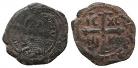 CRUSADERS.Tancred, 1112-1119 AD.AE Follis.Antioch mint  Condition: Very Fine  Weight: 3.80 gr Diameter: 25 mm
