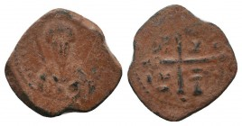 CRUSADERS.Tancred, 1112-1119 AD.AE Follis.Antioch mint  Condition: Very Fine  Weight: 3.10 gr Diameter: 19 mm
