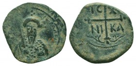 CRUSADERS.Tancred, 1112-1119 AD.AE Follis.Antioch mint  Condition: Very Fine  Weight: 3.30 gr Diameter: 20 mm