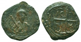 CRUSADERS.Tancred, 1112-1119 AD.AE Follis.Antioch mint  Condition: Very Fine  Weight: 6.20 gr Diameter: 23 mm