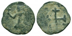 CRUSADERS. Baldwin II. 1108-1118 AD.AE Follis. Edessa mint.RARE COIN  Condition: Very Fine  Weight: 3.50 gr Diameter: 21 mm