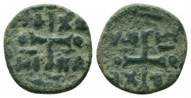 CRUSADERS. Anonymus AE Follis.Antioch .  Condition: Very Fine  Weight: 3.80 gr Diameter: 22 mm