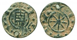 CRUSADERS, Lordship of Beirut. Raymond of Tripoli. 1184-1186. Æ Pougeoise   Condition: Very Fine  Weight: 0.70 gr Diameter: 15 mm