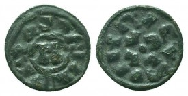 ITALY.Lucca. Enrico III, IV or V, 1039-1125 AD. AR Denaro  Condition: Very Fine  Weight: 1.10 gr Diameter: 16 mm
