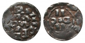 ITALY.Lucca. Enrico III, IV or V, 1039-1125 AD. AR Denaro  Condition: Very Fine  Weight: 1.30 gr Diameter: 16 mm