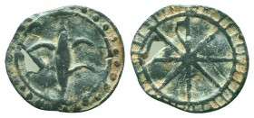 CRUSADERS Lead Seal or Token .Uncertain  Condition: Very Fine  Weight: 2.10 gr Diameter: 20 mm