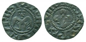 CRUSADERS. Bishop of Valence.AR Denier  Condition: Very Fine  Weight: 0.90 gr Diameter: 17 mm
