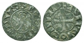 CRUSADERS, Antioch. Bohémond III. 1163-1201. AR Denier  Condition: Very Fine  Weight: 1.00 gr Diameter: 18 mm