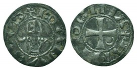 CRUSADERS, Antioch. Bohémond III. 1163-1201. AR Denier  Condition: Very Fine  Weight: 0.80 gr Diameter: 17 mm