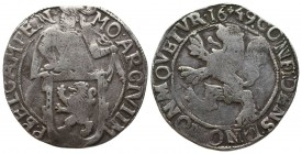 Netherlands. Kampen. AD 1648. Lion Daalder AR  Condition: Very Fine  Weight: 26.80 gr Diameter: 41 mm