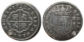 SPAIN. Philip V (First reign, 1700-1724).   Condition: Very Fine  Weight: 5.10 gr Diameter: 28 mm