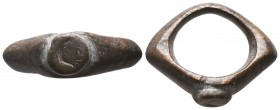 Byzantine Empire, 8th-11th century AD. Bronze seal Ring,  Condition: Very Fine  Weight: 14.00 gr Diameter: 32 mm