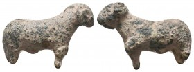 Ancient Roman bronze ram statue, 1st - 2nd Century A.D  Condition: Very Fine  Weight: 37.30 gr Diameter: 42 mm