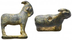 Ancient Roman bronze Goat Statue, 1st - 2nd Century A.D  Condition: Very Fine  Weight: 31.50 gr Diameter: 45 mm