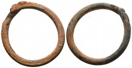 Ancient Roman bronze Serpent Bracelet, 1st - 2nd Century A.D  Condition: Very Fine  Weight: 70.00 gr Diameter: 86 mm