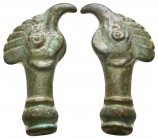 Byzantine Empire Bronze Rooster Final. Circa 5th-7th Century AD.  Condition: Very Fine  Weight: 8.30 gr Diameter: 30 mm