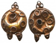 Gilted Silver fligree pendant or ornament, Circa 5th-7th Century AD.  Condition: Very Fine  Weight: 3.80 gr Diameter: 25 mm