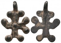 Byzantine Bronze Cross Pendant, Circa 5th-7th Century AD.  Condition: Very Fine  Weight: 4.00 gr Diameter: 28 mm