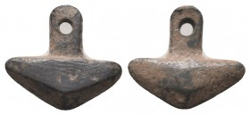 Medieval Anchor shape fitting!!! Circa 9th-11th Century AD.  Condition: Very Fine  Weight: 1.20 gr Diameter: 12 mm