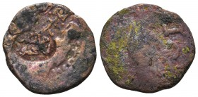 Byzantine Bronze coin arabic countermark on it , RARE!  Condition: Very Fine  Weight: 8.30 gr Diameter: 26 mm