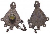 Armenian or Byzantine Silver Decorated Pendant, Circa 5th-7th Century AD.  Condition: Very Fine  Weight: 2.80 gr Diameter: 27 mm