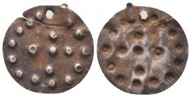 Crusaders silver cross pendant, Circa 10th-12th Century AD.  Condition: Very Fine  Weight: 0.70 gr Diameter: 21 mm