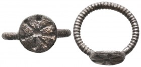 Armenian or Byzantine Silver twisted and Decorated Ring, Circa 5th-7th Century AD.  Condition: Very Fine  Weight: 4.60 gr Diameter: 23 mm