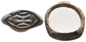 Byzantine Empire, c. 8th-12th century. Women Fertility Ring.  Condition: Very Fine  Weight: 3.40 gr Diameter: 20 mm
