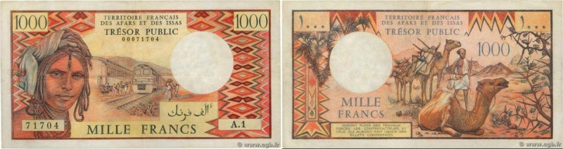 Country : AFARS AND ISSAS  Face Value : 1000 Francs  Date : (1975)  Period/Provi...