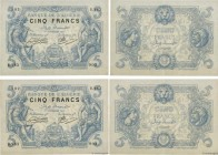Country : ALGERIA  Face Value : 5 Francs Consécutifs  Date : 01 septembre 1916  Period/Province/Bank : Banque de l'Algérie  Catalogue reference : P.71...