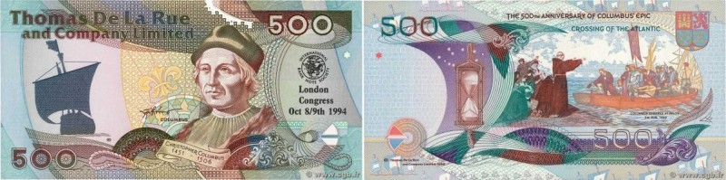 Country : ENGLAND  Face Value : 500 (Pounds) Test Note  Date : 1992-1994  Period...