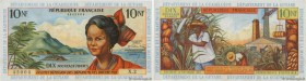 Country : FRENCH WEST INDIES  Face Value : 10 Nouveaux Francs  Date : (1962)  Period/Province/Bank : Institut d'Émission des Départements d'Outre-Mer ...