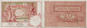 Country : BELGIUM  Face Value : 20 Francs  Date : 19 juillet 1914  Period/Province/Bank : Banque Nationale de Belgique  Catalogue reference : P.67  Al...