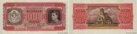 Country : BULGARIA  Face Value : 1000 Leva Non émis  Date : 1943  Period/Province/Bank : Bulgarian National Bank  Catalogue reference : P.67a  Alphabe...