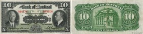 Country : CANADA  Face Value : 10 Dollars  Date : 02 janvier 1935  Period/Province/Bank : Bank of Montreal  Catalogue reference : P..0559b  Alphabet -...