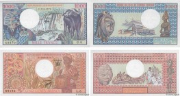 Country : CENTRAL AFRICAN REPUBLIC  Face Value : 500 et 1000 Francs Lot  Date : 1980-1981  Period/Province/Bank : B.E.A.C.  Department : République Ce...