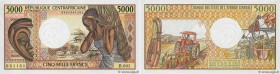 Country : CENTRAL AFRICAN REPUBLIC  Face Value : 5000 Francs  Date : (1984)  Period/Province/Bank : B.E.A.C.  Department : République Centrafricaine  ...