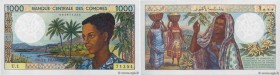 Country : COMOROS  Face Value : 1000 Francs  Date : (1984)  Period/Province/Bank : Banque centrale des Comores  Catalogue reference : P.11a  Alphabet ...