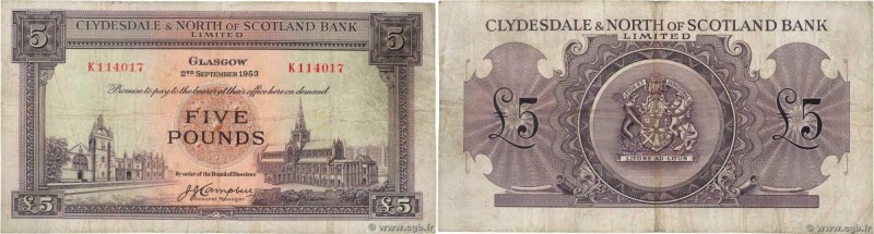 Country : SCOTLAND  Face Value : 5 Pounds  Date : 02 mai 1953  Period/Province/B...