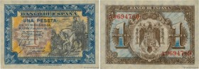 Country : SPAIN  Face Value : 1 Peseta  Date : 01 juin 1940  Period/Province/Bank : Banco de Espana  Catalogue reference : P.121a  Alphabet - signatur...