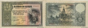 Country : SPAIN  Face Value : 500 Pesetas  Date : 21 octobre 1940  Period/Province/Bank : Banco de Espana  Catalogue reference : P.124  Alphabet - sig...