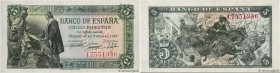 Country : SPAIN  Face Value : 5 Pesetas  Date : 15 juin 1945  Period/Province/Bank : Banco de Espana  Catalogue reference : P.129a  Alphabet - signatu...