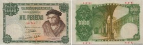 Country : SPAIN  Face Value : 1000 Pesetas  Date : 19 février 1946  Period/Province/Bank : Banco de Espana  Catalogue reference : P.133  Alphabet - si...