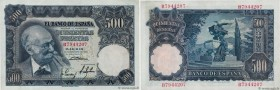 Country : SPAIN  Face Value : 500 Pesetas  Date : 15 novembre 1951  Period/Province/Bank : Banco de Espana  Catalogue reference : P.142a  Alphabet - s...
