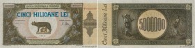 Country : ROMANIA  Face Value : 5000000 Lei  Date : 25 juin 1947  Period/Province/Bank : Banca Nationala a Romaniei  Catalogue reference : P.61a  Alph...