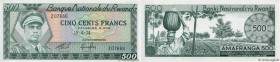 Country : RWANDA  Face Value : 500 Francs  Date : 19 avril 1974  Period/Province/Bank : Banque Nationale du Rwanda  Catalogue reference : P.11a  Alpha...